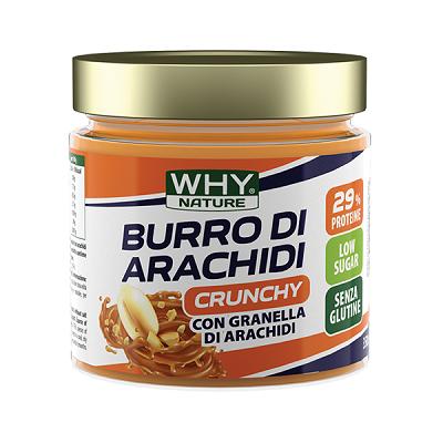 Burro di Arachidi Crunchy 350g – Why Nature
