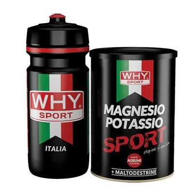 Magnesio Potassio 400g + Borraccia – Why Sport