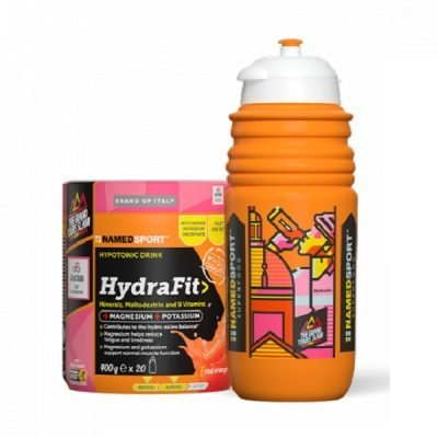 Hydrafit 400g Red Orange + Borraccia – Named Sport
