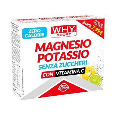 Magnesio Potassio senza Zuccheri 10 buste Agrumi – Why Sport