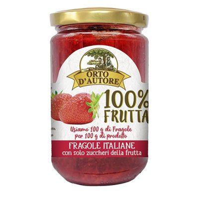 Confettura 100% Frutta 340g Fragola – Orto d'autore