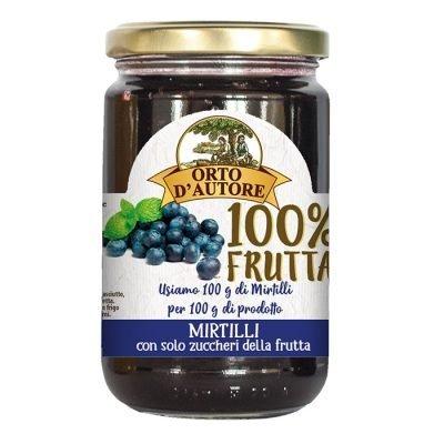 Confettura 100% Frutta 340g Mirtilli – Orto d'autore