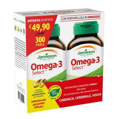 Promo Duo Pack Omega 3 Select Con Pilloliera 2x150prl – Jamieson