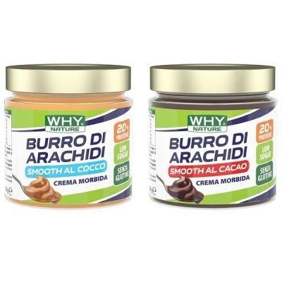 Burro di Arachidi Smooth Aromatizzato 350g – Why Nature