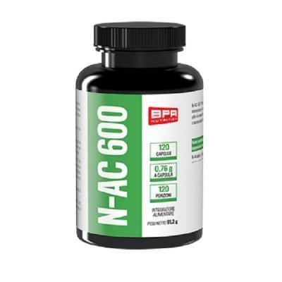 N-AC 600 Acetil Cisteina 120cps – BPR Nutrition